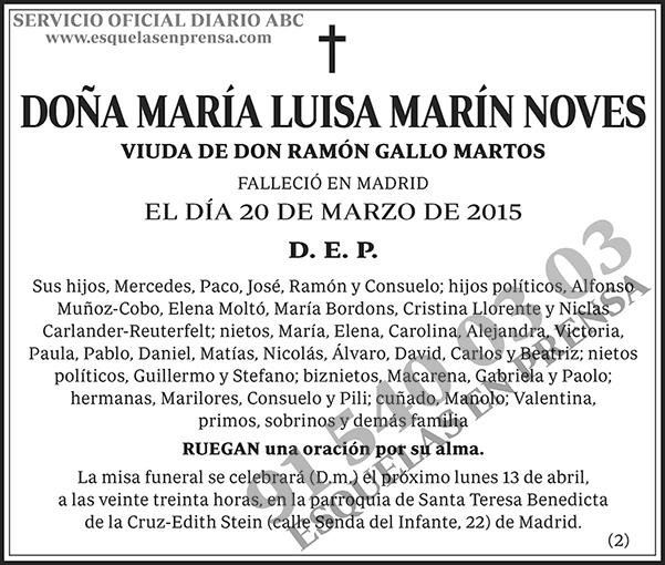 María Luisa Marín Noves